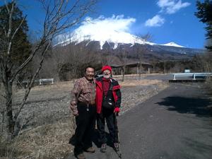 平成27年3月 富士山にて
